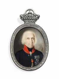 ferdinand iv (1751-1825), king of naples and the two-sicilies, in blue coat with red collar, wearing the breast-star of the royal neapolitan order of st. januarius by nicolas-françois dun
