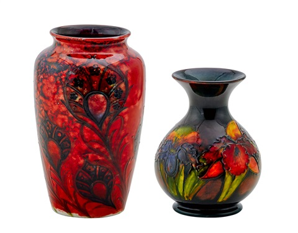 Two Moorcroft Vases By Moorcroft On Artnet