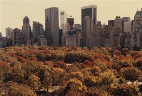 red autumn central park by ruth orkin