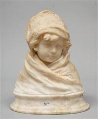 buste d'enfant au chapeau by georges morin