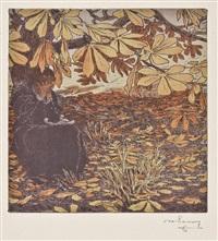 donna che piange seduta sotto un albero by maximilian lenz