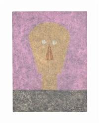 cabeza sobre fondo rosa, from: rufino tamayo 8 aguafuertes by rufino tamayo