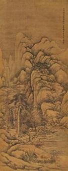 夏山清隐 (landscape) by dai benxiao