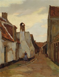 street in katwijk by louis soonius