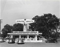 roadside diner (+ hub cap display, u.s.1, new jersey, july; 2 works) by john vachon