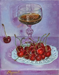 still life with cherries by sylvie reynart