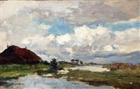 landschap met wolkenlucht by paul joseph constantin gabriël