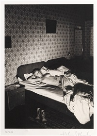 untitled (nude on bed) by helmut newton