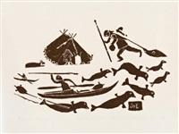 whale hunting (1965 #63) by joe talirunili