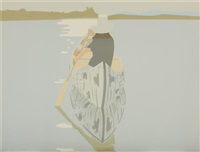 good afternoon 2 (gray rowboat) by alex katz