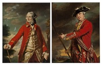 portraits of british officers (2 works) by francis cotes