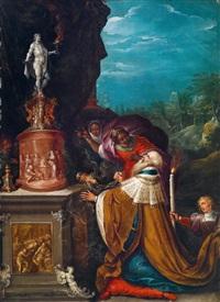 salomons götzendienst by frans francken iii