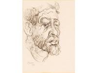 portrait of a bearded man by gregoire johannes boonzaier