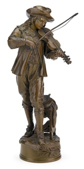 figure of a violinist by jean louis gregoire