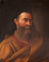 man with yellow cloak by natale schiavoni