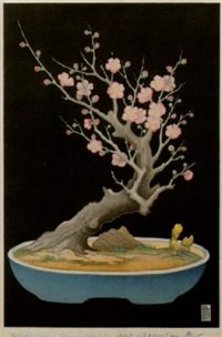 japanese dwarf plum tree by lilian may miller