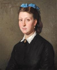portrait de jeune femme by amédée bourson