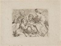 die madonna mit dem kind, dem johannesknaben und der heiligen elisabeth by annibale carracci