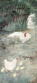 群鸡图 (cock) by wu tai