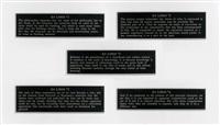 ex libris series. nietzsche, freud, wittgenstein, foucault, de mann by joseph kosuth