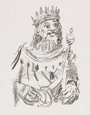 king lear (17 works) by oskar kokoschka