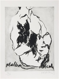 melba, malcom by malcolm morley