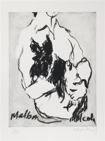melba malcom by malcolm morley