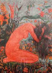 nu aux fleurs by jacques cortellari