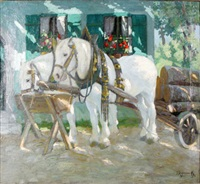 hästar vid krubba by jakob koganowsky