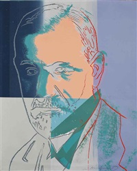 sigmund freud (from ten portraits of jews of the twentieth century) by andy warhol