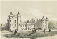 scotland: queen mary's tower, holyrood palace (+ 11 others; 12 works) by samuel dukinfield swarbreck