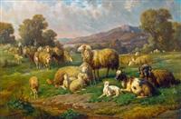 schafherde by louis (ludwig) reinhardt