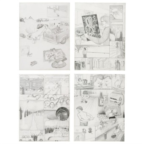 dream drawings in 4 parts by jim shaw