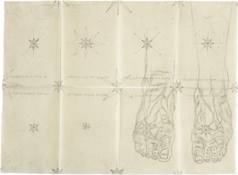 the blue feet by kiki smith