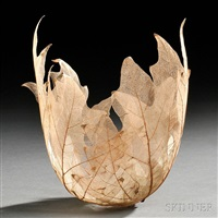 leaf bowl sculpture by kay sekimachi