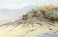 leopard on a plain by george edward lodge