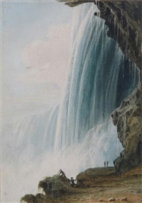 the horseshoe falls, niagara by thomas allom