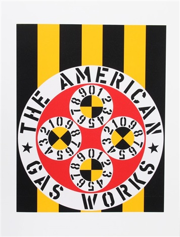 the american gas works from american dream by robert indiana