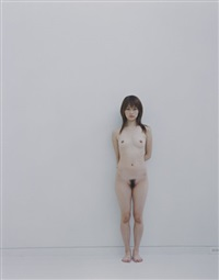 standing full nude, series no. 3, tokyo (+ standing full nude, series no. 5; 2 works) by yoshihiko ueda