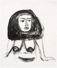 sphinx (akt mit schwarzen haaren) by otto dix
