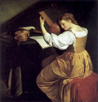 die lauterspielerin by orazio gentileschi