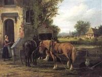 bij de herberg by édouard-joris moerenhout