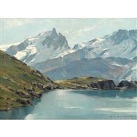 lac lerie et la meije by charles henry contencin