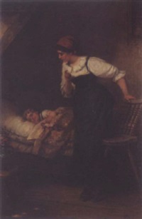 the sleeping child by wilhelm roegge the younger