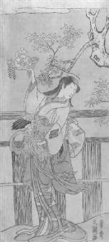 ganzporträt des schauspielers nakamura matsue by ippitsusai buncho