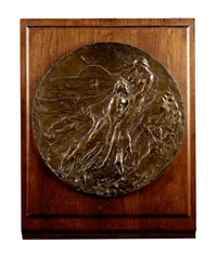 a phantasy plaque (+ preparatory sketch; 2 works) by james pittendrigh macgillivray