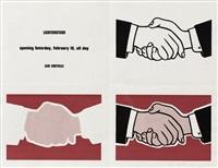 castelli handshake poster by roy lichtenstein