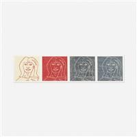 corrine (four faces) by alex katz
