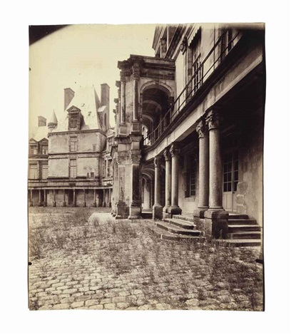 fontainebleau cour ovale by eugène atget