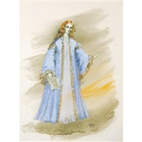 costume design for beverly sills as violetta in verdi's la traviata, act iv by jose varona